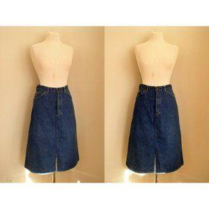 Vintage 70's Madewell High Waisted Denim Skirt